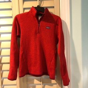 Red Patagonia Pullover Jacket